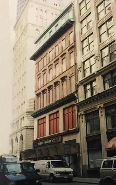 The Prince Building facing Devonshire Street in Boston. This photo was taken sometime between 1980 and 1993.